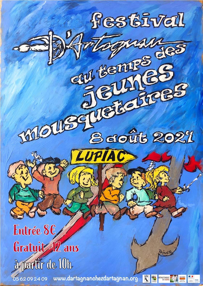 Affiche pour le festival d'Artagnan